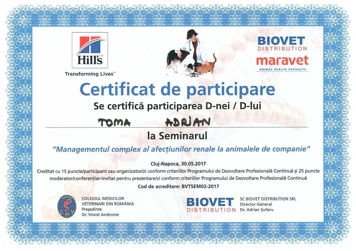 Certificări de stomatologie veterinară Managementul afectiunilor renale la animalele de companie