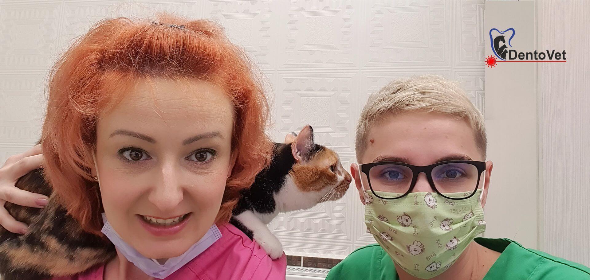 Echipa medici veterinari Raluca si Andreea